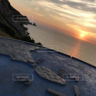 夕焼けのクローズアップの写真・画像素材[2263875]
