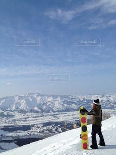 雪山の写真・画像素材[366048]