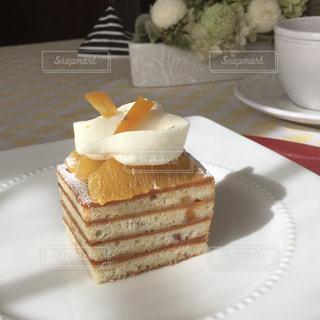 ケーキ,オレンジ,生クリーム,手作り,スポンジ