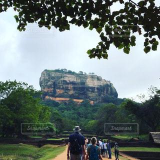 自然,空,屋外,道路,世界遺産,岩,遺跡,旅,地面,スリランカ,シーギリヤロック,宮殿跡