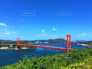 水の体の上の橋の上の大きな長い列車 - No.769231