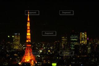 夜の東京タワーの写真・画像素材[1015869]