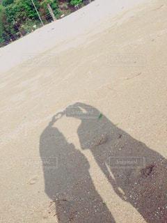 #海,#影,#砂浜,#ツーショット