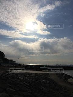 太陽,海、美しい、癒し、自然、希望、旅先、目的地