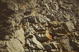 岩のクローズアップの写真・画像素材[3356414]