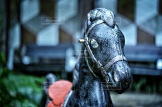 お庭のお馬さんの写真・画像素材[4371534]