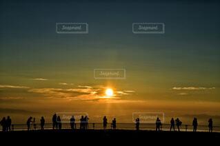 高原の日の出の写真・画像素材[4419112]