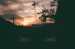 我が家からの夕日の写真・画像素材[956724]