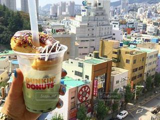 おやつ,韓国,美味しい,ドーナツ,タピオカ,釜山,バブルティー,ダンキンドーナツ,抹茶タピオカ,抹茶ミルクティー,国際観光ホテル,景色いい