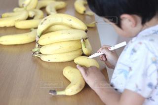 家族,食べ物,おやつ,手作り,少年,兄弟,おえかき,バナナ,おうち時間,バナペン