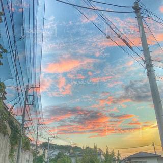 きれいな夕焼けですの写真・画像素材[955319]
