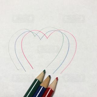 かわいい,ハート,色鉛筆,鉛筆,落書き