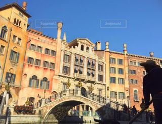 男性,風景,空,建物,橋,晴れ,青空,後ろ姿,景色,眼鏡,人物,背中,人,ディズニーシー,ディズニー,ゴンドラ,建築,洋風建築,ヴェネツィアン・ゴンドラ