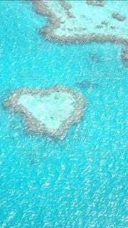 海,綺麗,ハート,ブルー