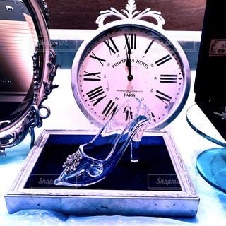靴,時計,鏡,レトロ,フィルム,ミラー,シンデレラ,ガラスの靴,フィルム写真,モチーフ,フィルムフォト