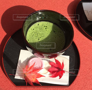 お茶とお菓子の写真・画像素材[877090]
