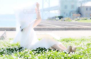 白いドレスの女性の写真・画像素材[911538]