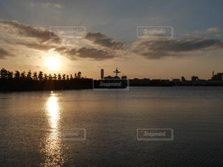 風景,海,夕日
