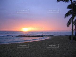 風景,海,夕日,ビーチ,ハワイ