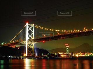 夜景,門司,関門海峡,福岡県,関門海峡大橋
