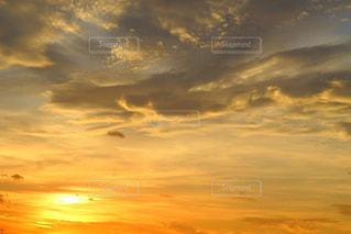 自然,空,夏,夕日,屋外,雲,綺麗,夕暮れ,景色,オレンジ,日本,夕陽