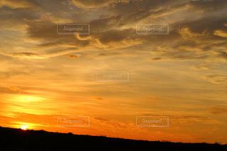 夏のキレイな夕焼けの写真・画像素材[1287127]