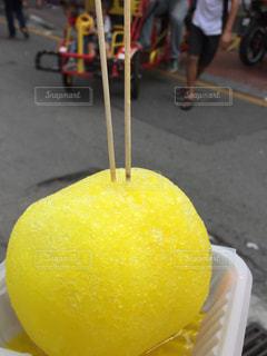 かわいい,黄色,マレーシア,かき氷,冷たい,まん丸,カキ氷