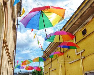 空,傘,屋外,カラフル,鮮やか,梅雨,umbrella