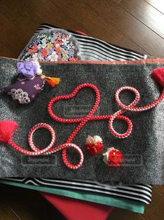 近くに赤い毛布のアップ - No.1112691