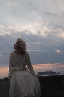 女性,ファッション,風景,海,空,夕焼け,女子,日常,風,江ノ島,休日,七里ヶ浜,わたしの街