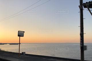 下灘駅で見た夕日の写真・画像素材[956133]