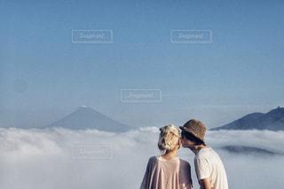 雲の上での写真・画像素材[1358242]