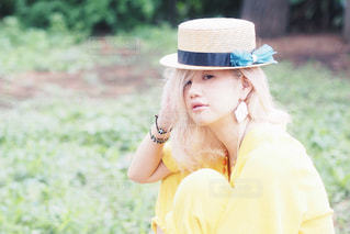 帽子をかぶった女の子の写真・画像素材[2893135]