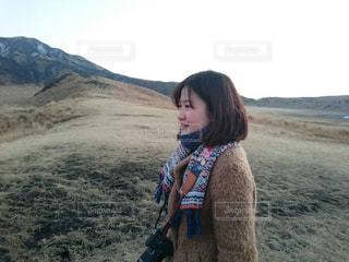 冬,夕暮れ,山,熊本,阿蘇,休日,草千里,阿蘇山,非日常,一月