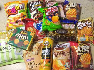 韓国のお菓子の写真・画像素材[1076271]