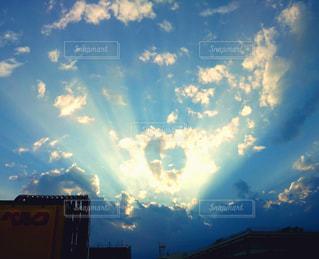 空,雲,青,光,ハート