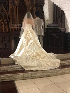 結婚式,リボン,ウェディングドレス