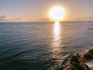 海,空,夕日,景色,ハワイ