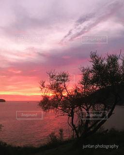 空,夕日,ビーチ,夕焼け,夕陽,sunset,バリ