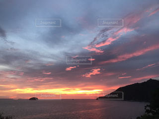 海,空,夕日,夕焼け,夕陽,sunset,和歌山県