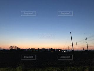 夕焼け,埼玉県,家の庭,深谷市