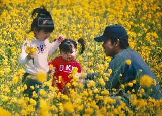 黄色の花の人々 のグループの写真・画像素材[777804]