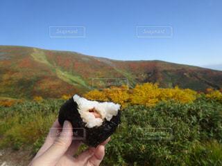 #想い出のおにぎり,#母が握ってくれた,#山で食べた,#シャケおにぎり,#空気がおいしい。,#とにかくおいしい