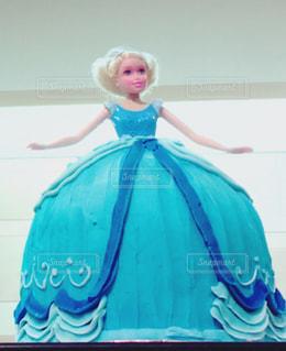 ケーキ,海外,アメリカ,ブルー,プリンセスケーキ