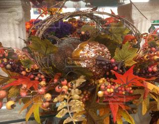 秋,植物,フラワーアレンジメント,かぼちゃ,リース,飾り