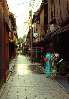 風景,夏,京都,街,背景,着物,浴衣,旅行,旅,祇園,町,summer,風情,壁紙,京