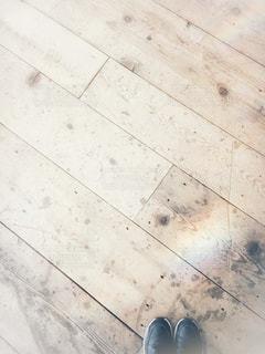 床に横になっている猫の写真・画像素材[1046141]