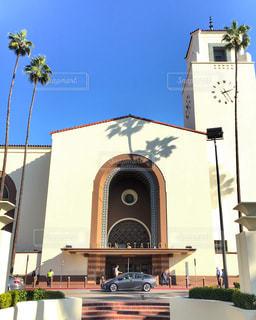 Union Station Los Angeles 正面 ロサンゼルス ・ ユニオン駅 時計塔の写真・画像素材[1213898]
