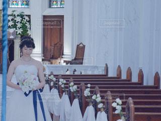新婦 花嫁 ウェディングドレス ブーケ アクセサリーの写真・画像素材[1276712]