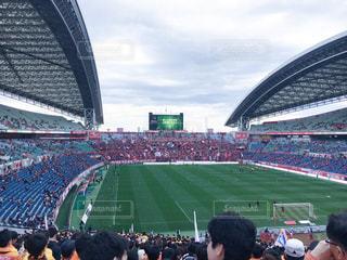 埼玉スタジアム サッカー Jリーグ バック グラウンドでセンチュリー リンク フィールドの人々 でいっぱいスタジアムの写真・画像素材[1292324]